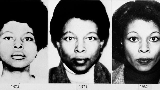 This photo provided by the FBI shows the different appearances of convicted fugitive Joanne Chesimard, in different years.