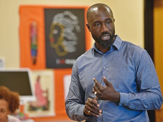 In this Feb. 20, 2017 photograph, then Jackson, Miss., Mayor Tony Yarber speaks at a forum during his reelection campaign. Yarber, now former mayor, subdued and paddled 22-year-old Juwuan Bibbs, a man who police say was burglarizing his truck at his home, Sunday, Oct. 29, 2017. Yarber dragged Bibbs into his garage, held him on the floor and hit him with a paddle while awaiting police. (Justin Sellers, The Clarion-Ledger, via AP)