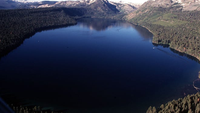 This file photo taken in July 1997 shows a scenic view of Fallen Leaf Lake, which sits nearly 2 miles south of Lake Tahoe.