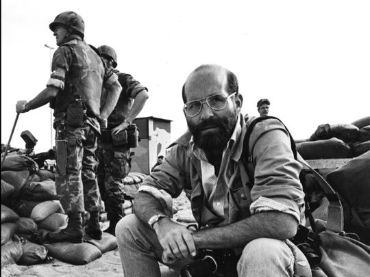 Bill Foley at the U.S. Marine base in Beirut in 1983. Through July 19, the work of Hoosier photojournalist Foley is on display at the at the Indiana State Museum.