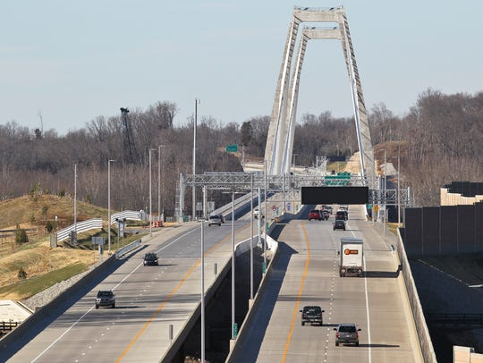 Traffic was light on the first tolling day of the East