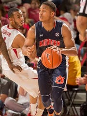 Auburn freshman guard Bryce Brown is the only perimeter player averaging double-figure scoring this season.