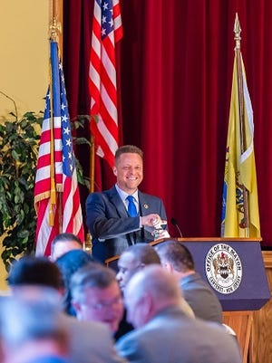 Carteret Mayor Daniel J. Reiman delivered his State of the Borough address on Tuesday.