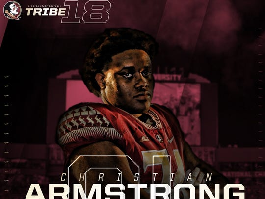 Three-star OT Christian Armstrong signs with FSU.