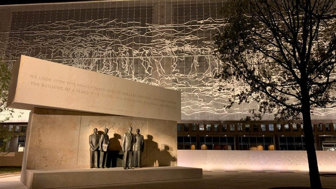 Tourists and locals can visit the Eisenhower Memorial beginning Friday.