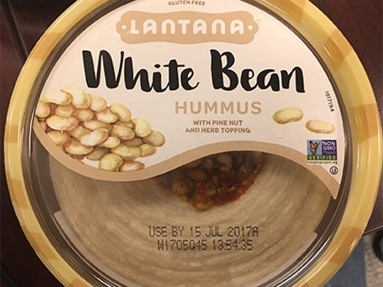 Select products of Lantana White Bean hummus with pine