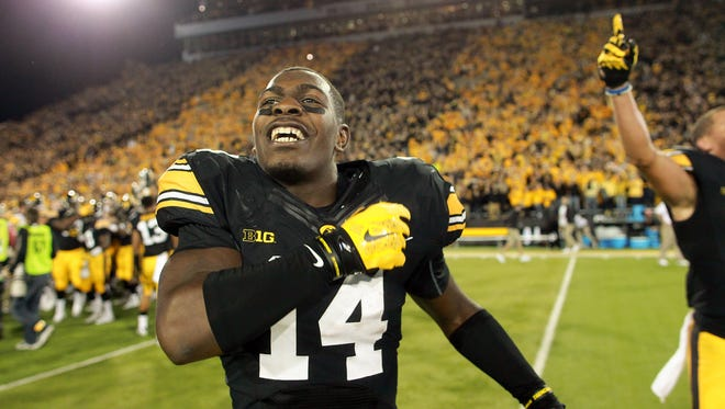 Iowa's Desmond King had two of his six interceptions against Pittsburgh. He had two more against Wisconsin in a key road win.