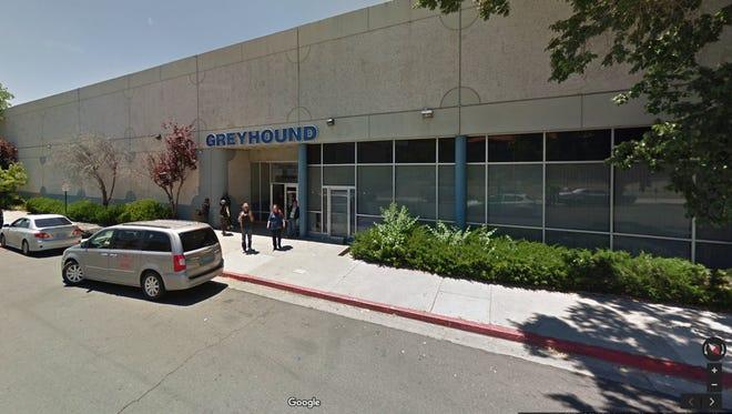 Google Street View image of Greyhound bus station in Reno.