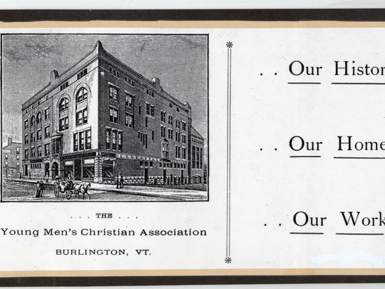 The first building constructed as a YMCA in Burlington sat at the southwest corner of Church and College streets and was erected in 1888. Fire destroyed the building in 1928.