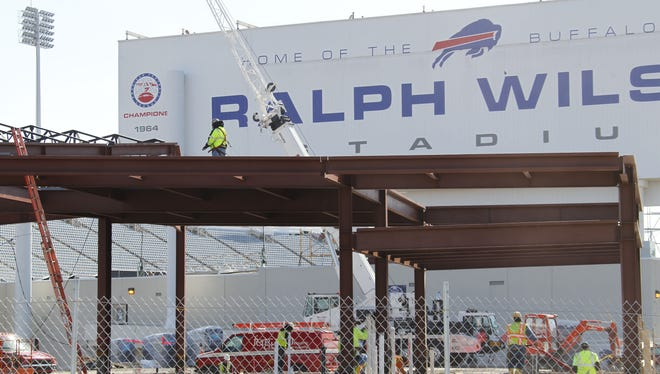 The Associated Press reports that a newly formed Bills stadium task force of public and private leaders seeking to bolster the team's long-term viability is considering sites that would put it closer to the team's burgeoning Ontario fan base.