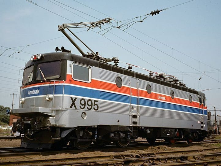In 1976, Amtrak tested French and Swedish locomotives