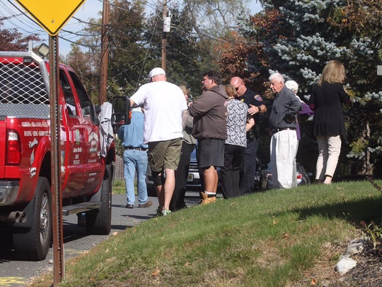 Friends and relatives of the victims gathered at the