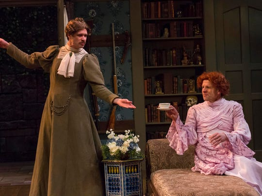 Marcus Truschinski and Rob Johansen in the IRT's 2016 production of The Mystery of Irma Vep.