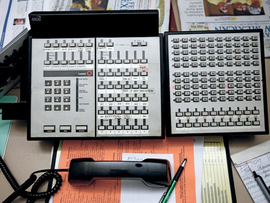 The switchboard at the State Capitol on Friday, Jan.