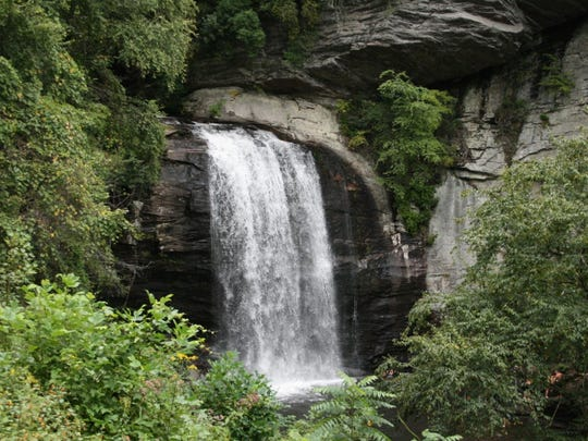 Waterfalls abound in and around Brevard.
