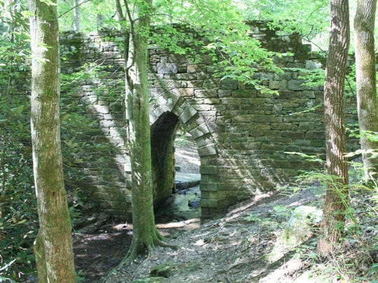 The Poinsett Bridge in the Upstate is a popular destination.