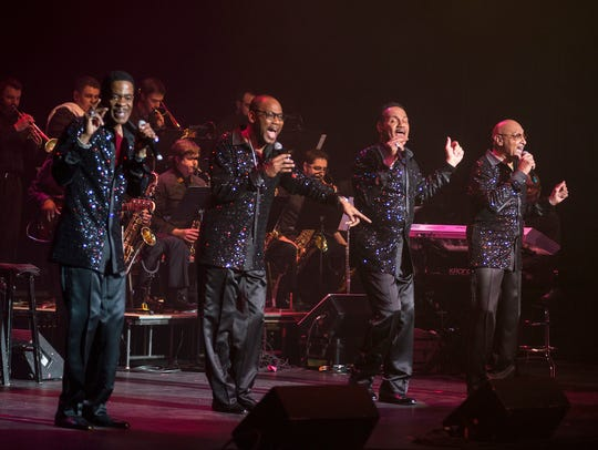 The Four Tops, pictured here at a Pabst Theater show in February 2017, will co-headline the Wisconsin State Fair Aug. 9 with the Temptations.