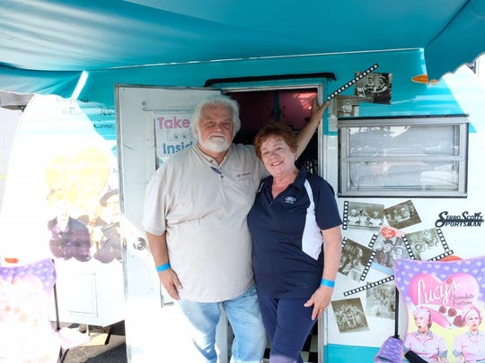 Elaine and John Vermeersch of Chesterfield have owned the trailer for 10 years and have taken it on tours across the country.