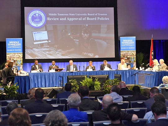 The 10-member Middle Tennessee State University Board