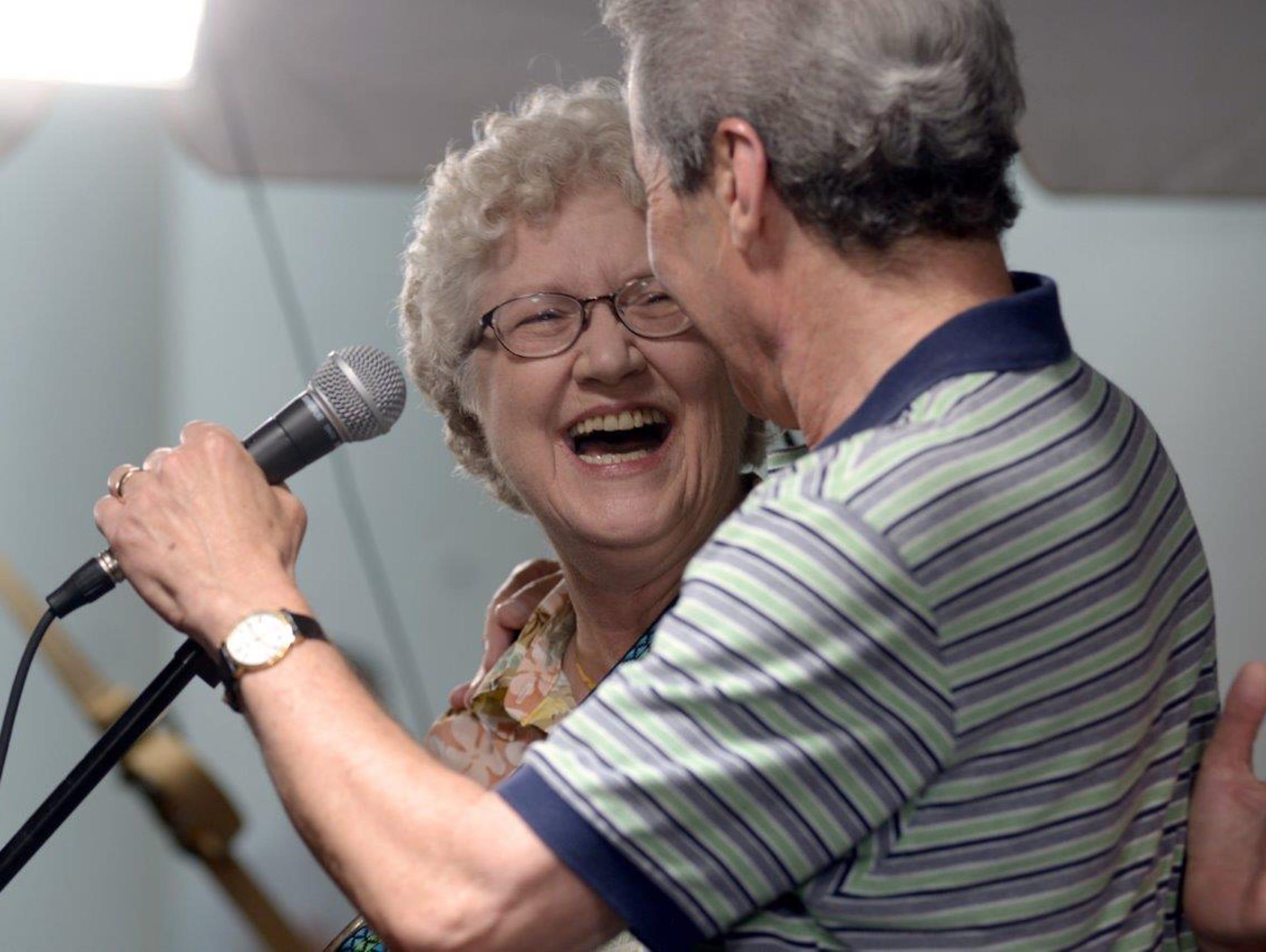 Staunton Mayor Carolyn Dull and Daniel Heifetz, founder