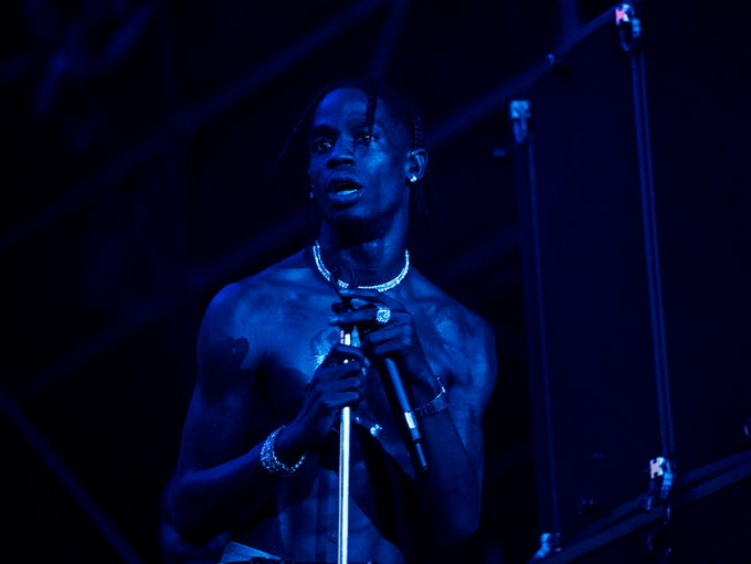 Travis Scott headlines Lollapalooza in Chicago Thursday.