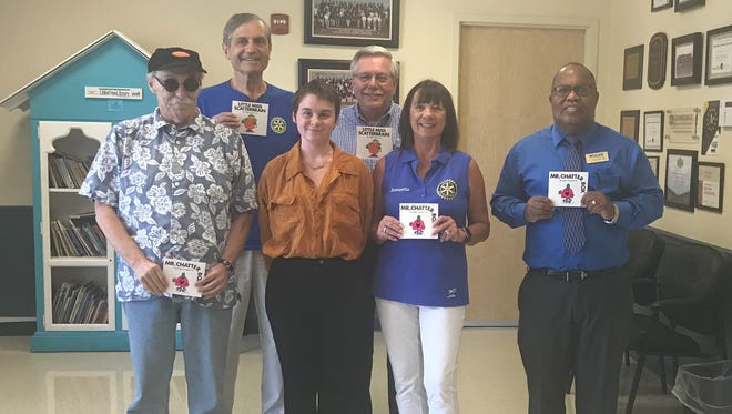 Port St. Lucie Sunset Rotary Club members Marvin Lesman, left, Leo Ladefian, Alexzandra Vericella, George Seliga, Jeannette Weiss and Gerald Wilcox at Renaissance Charter School in Tradition.