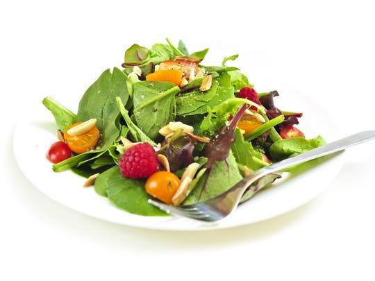 Larger greens make salad eating more difficult.