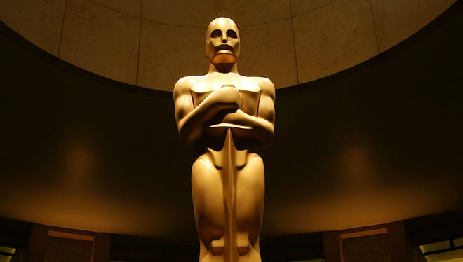 This 2015 file photo shows an Oscar statue.