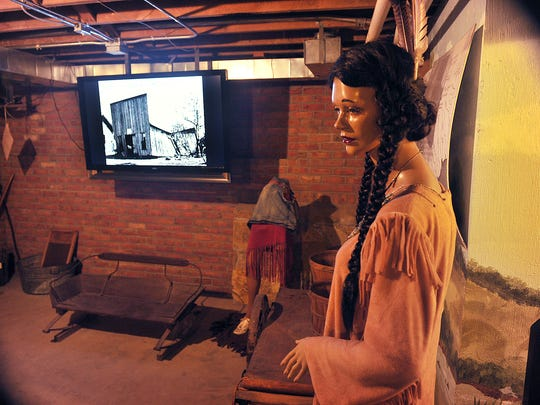 In the basement of the Clay County Jail and Heritage Center are exhibits of early pioneer life and the culture of Native Americans from the Henrietta area.