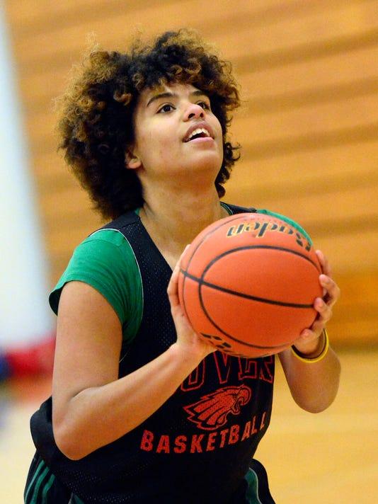 Dover Area High School girl's basketball practice