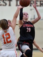 Seymour's Jenna Krause (20) averaged 11.2 points, 6.8 rebounds, 3.6 assists and 3.7 steals per game in Bay Conference play last season.