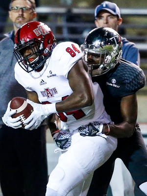 Tallassee's Dijon Paschal began the season among the all-time leaders in Arkansas State history for receptions, receiving yards and receiving touchdowns.