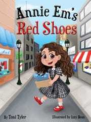 "Book cover of ""Annie Em's Red Shoes by Toni Tyler,"