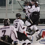 Okemos senior forward Jake Faustyn had 33 goals and 28 assists this season and is the LSJ player of the year.