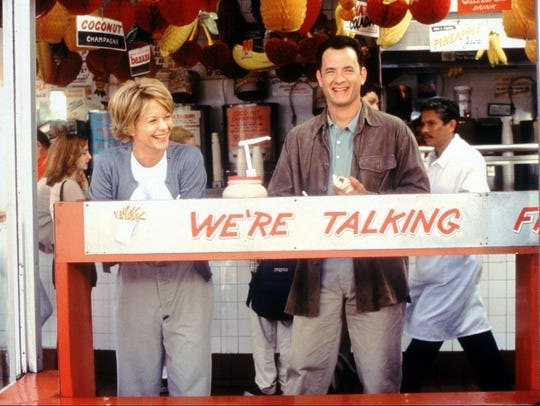 Meg Ryan and Tom Hanks in a scene from 'You've Got