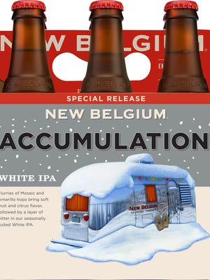 New Belgium has re-released its winter seasonal white IPA called Accumulation.