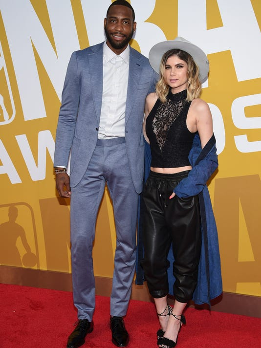 FILE - In this June 26, 2017, file photo, former NBA basketball player Rasual Butler and his wife Leah LaBelle, whose given name is Leah LaBelle Vladowski, arrive at the NBA Awards at Basketball City at Pier 36 in New York. Authorities say the couple died in a single-vehicle rollover traffic accident in the Studio City area of Los Angeles' San Fernando Valley early Wednesday, Jan. 31, 2018. Coroner's Assistant Chief Ed Winter says both died at the scene. Autopsies are pending. (Photo by Evan Agostini/Invision/AP, File)