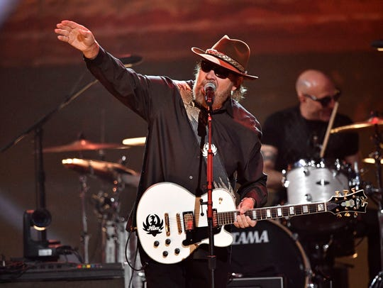 Hank Williams Jr. performs at the Merle Haggard Tribute