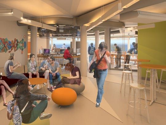 """Rendering of the """"Creative & Social"""" area."""