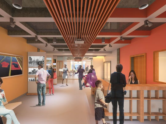 This is what the welcome center might look like.