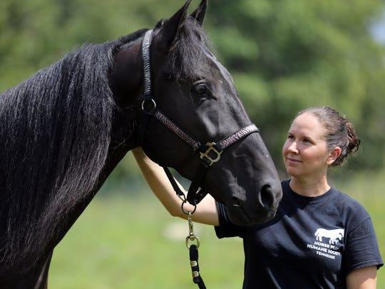 Tawnee Preisner, founder of Horse Plus Humane Society,