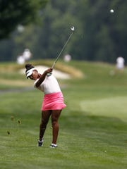 Kyra Cox, 16 from South Salem hits an approach shot
