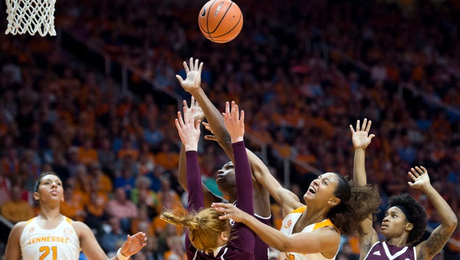 Tennessee's Jaime Nared has struggled the past four games with her shooting. As a result, Lady Vols coach Holly Warlick talked with the senior forward and watched video with UT's leading scorer.