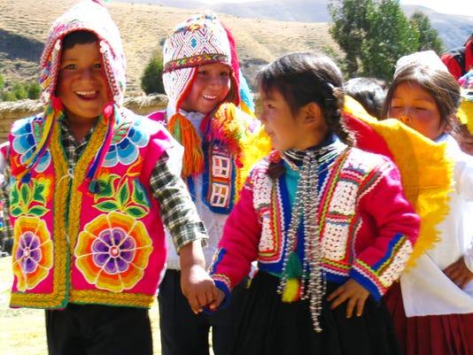Q'ero children dance