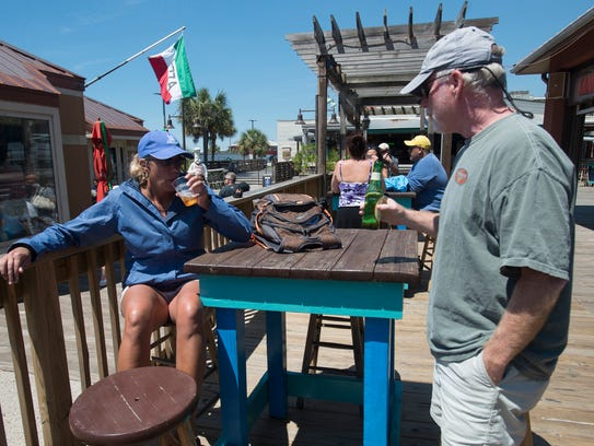 Pensacola Beach residents, Connie and Rob Hoffman,