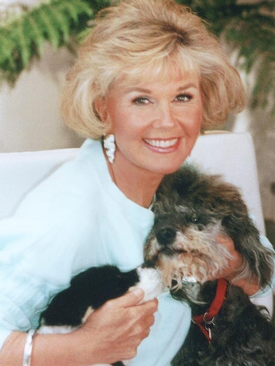 Doris Day, with dogs Lovey & Biggest from the late 70's - provided by Dor