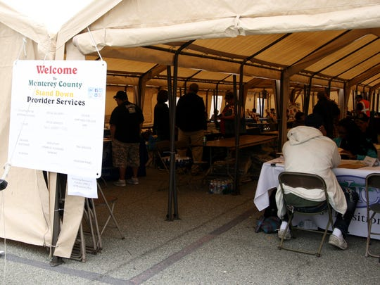 The Monterey County Homeless Stand Down for Homeless Veterans offered a wide area of services within a mini-tent city in Marina over the weekend.