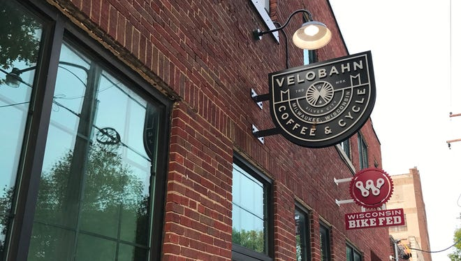 Velobahn Coffee & Cycle, the city's first bicycle cafe and the neighborhood's only independent coffee shop, is open at 3618 W. Pierce St.
