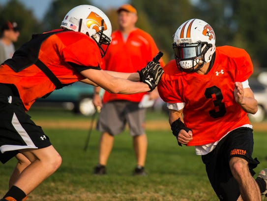 Palmyra linebacker Deven Sosnoski is just 5-feet-4
