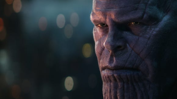 """Thanos (Josh Brolin) did a number on the galaxy in """"Avengers: Infinity War,"""" but will be back in the fourth """"Avengers"""" film next year."""